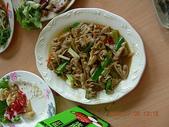 嘉義美食:20080706嘉義觸口阿和甕仔雞-薑絲大腸(不夠酸)