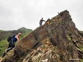 106/05/12 劍龍稜、鋸齒稜、555峰下俯瞰稜出山腰水管路:DSCN4404.JPG