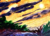 繪畫連篇的東西 (不定期更新):雨後之霞