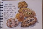 2014年我的生活速寫 / 圖畫日記:水彩 / 好吃麵包
