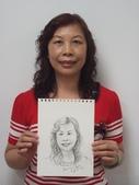 2015年11月 / 生活速寫。手繪日記:2015 / 503 〈044〉〈水性色鉛筆:人物速寫 / 家政班學生