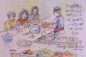 2015年1至5月人物素描 / 速寫:2015/ 235 淡彩速寫:5/24的晚餐吃鐵板燒