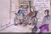2015年〈1月至2月〉生活速寫 / 手繪日記:2015/073 淡彩速寫:在醫院候診的人