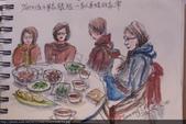 2014年我的生活速寫 / 圖畫日記:12/28大妹 / 郁如請弟妹家人聚餐【餐後小弟家喝下午茶】