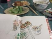 2015年12月 / 生活速寫。手繪日記:2015 / 530 淡彩速寫:傳統台式小吃 米粉湯和油豆腐