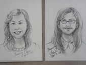 2015年11月 / 生活速寫。手繪日記:2015人物速寫 : 水性色鉛筆 /左  和 紙卷蠟筆 /右  2位家政班學生