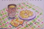 2014年我的生活速寫 / 圖畫日記:畫畫課的下午茶 / 餅乾與熱茶