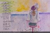 2015年〈3月至4月〉生活速寫 / 手繪日記:2015/132 淡彩速寫:女兒在眼鏡行驗光
