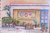 2015年〈3月至4月〉生活速寫 / 手繪日記:2015/197   淡彩速寫:莊ㄧ街上的美術才藝班門口