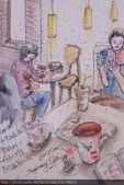 2015年〈1月至2月〉生活速寫 / 手繪日記:2015/041淡彩速寫:經國摩斯速食店用餐