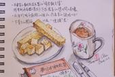 2014蘆竹農會家政班 / 生活彩繪課2 【透明水彩】:淡彩速寫 / 下午茶的閱讀〈生活速寫示範圖〉