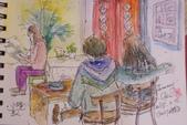 2015年〈1月至2月〉生活速寫 / 手繪日記:2015/099  淡彩速寫:我家日照小館的客人