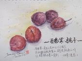 2019年七月以後的生活速寫:20190715 淡彩 / 百香果。桃子
