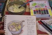 2014年我的生活速寫 / 圖畫日記:淡彩速寫 / 冬至吃湯圓