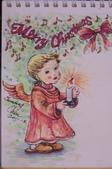 我手繪的耶誕卡。與名片。卡片:100_6538.JPG