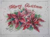 2015年12月 / 生活速寫。手繪日記:【2015 / 529 淡彩速寫:手繪明信片聖誕卡 】示範圖