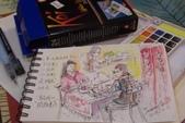 2014年我的生活速寫 / 圖畫日記:新畫的開箱圖 / 24色櫻花牌透明水彩