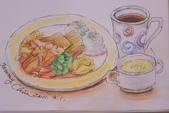 2014年我的生活速寫 / 圖畫日記:彩筆下的套餐1