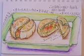 2014年我的生活速寫 / 圖畫日記:淡彩/蝦仁鍋貼