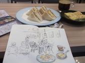 2019 每日一畫 / 生活速寫【4至6月】:20190624 淡彩 / 晨間咖啡餐點