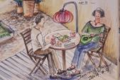 2014年我的生活速寫 / 圖畫日記:淡彩插畫 / 美好時光〈局部放大〉