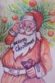 我手繪的耶誕卡。與名片。卡片:2013.手繪耶誕卡