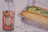 2014年我的生活速寫 / 圖畫日記:在超商裡的下午茶