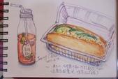2014年我的生活速寫 / 圖畫日記:在超商喝下午茶