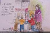 2015年〈1月至2月〉生活速寫 / 手繪日記:2015/076 淡彩速寫:親子互動 / 一起閱讀