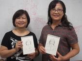 2015年10月 / 生活速寫。手繪日記:鋼筆人物速寫 / 家政班學生  秋姿和碧俐