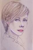 2014畫作回顧 / 線上展出:色鉛筆人物素描