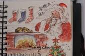 我手繪的耶誕卡。與名片。卡片:2012手繪聖誕卡