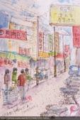 2015年〈1月至2月〉生活速寫 / 手繪日記:2015/055 淡彩速寫:黃昏市場旁/ 同安街商圈