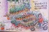 2015年〈3月至4月〉生活速寫 / 手繪日記:2015/196   淡彩速寫:同安街黃昏市場的花店