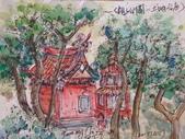 2015年9月 / 生活速寫。手繪日記:2015 / 415 淡彩速寫:親子公園的土地公廟