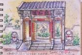 2015年〈3月至4月〉生活速寫 / 手繪日記:2015/195   淡彩速寫:中式庭院的頤和園社區大門