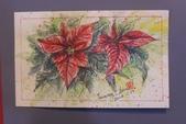 我手繪的耶誕卡。與名片。卡片:2014手繪耶誕卡片