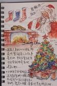 我手繪的耶誕卡。與名片。卡片:100_8751.JPG