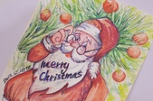 我手繪的耶誕卡。與名片。卡片:100_9825.JPG
