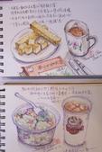 2014蘆竹農會家政班 / 生活彩繪課2 【透明水彩】:我畫生活速寫 / 下午茶2張
