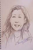 2014畫作回顧 / 線上展出:單色色鉛筆人物速寫