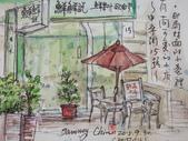 2015年9月 / 生活速寫。手繪日記:2015 / 416 淡彩速寫:中寧街上的 / 〈鮮鮮說〉小舖店外