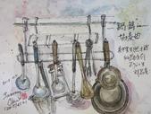 2015年10月 / 生活速寫。手繪日記:2015/452 淡彩速寫:鍋鏟和湯瓢的協奏曲