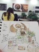 2015年8月 / 生活速寫。手繪日記:2015/ 369 淡彩速寫:小七家的城市咖啡館