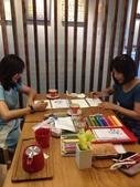 2014蘆竹農會家政班 / 生活彩繪課2 【透明水彩】:家政班學生在咖啡館畫畫
