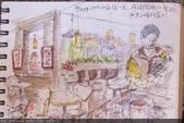 2014畫作回顧 / 線上展出:淡彩速寫 / 經國路摩斯2樓