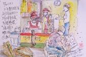 2015年1至5月人物素描 / 速寫:2015/ 241 淡彩速寫:同安街親子公園對面〈東方美早餐〉店