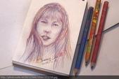 2014畫作回顧 / 線上展出:魔術筆畫人物速寫 / 報紙美女