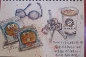2014年我的生活速寫 / 圖畫日記:淡彩速寫 / 咖啡和銅鑼燒