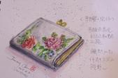 2015年〈1月至2月〉生活速寫 / 手繪日記:2015/093  淡彩速寫:我的手繪皮件 / 小錢包